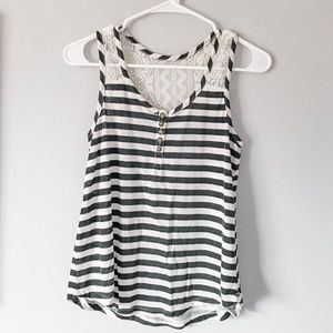 Striped Tank with Lace